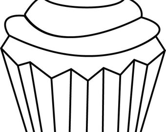 Cupcake Rubber Stamp