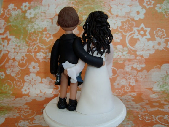 Custom Scottish Wedding Cake Topper