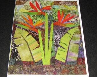 Art Quilt Card - Paradise Garden