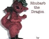 Digital Art Doll pattern Rhubarb the Dragon