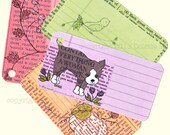Digital Stamp Garden Gift tags set