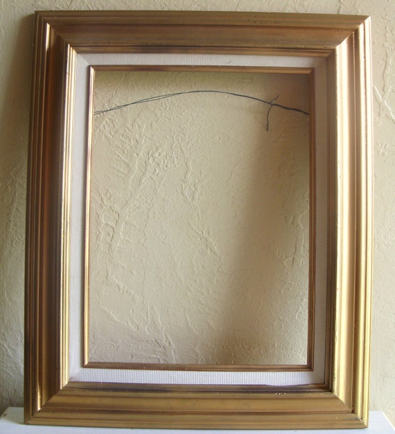 Gold and White Wood Picture Frame Large Wall Hanging Big