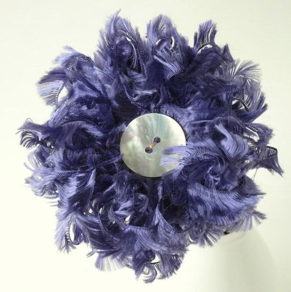 Violet Fluffy Flower, table decor, centerpiece