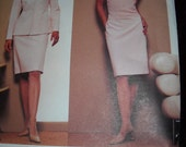Vogue 2623 Plus Size Anne Klein American Designer Pattern Skirt Suit Camisole Casual Wedding Outfit Uncut Pattern Size 18 20 22