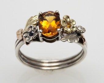 Yellow Topaz Promise Ring