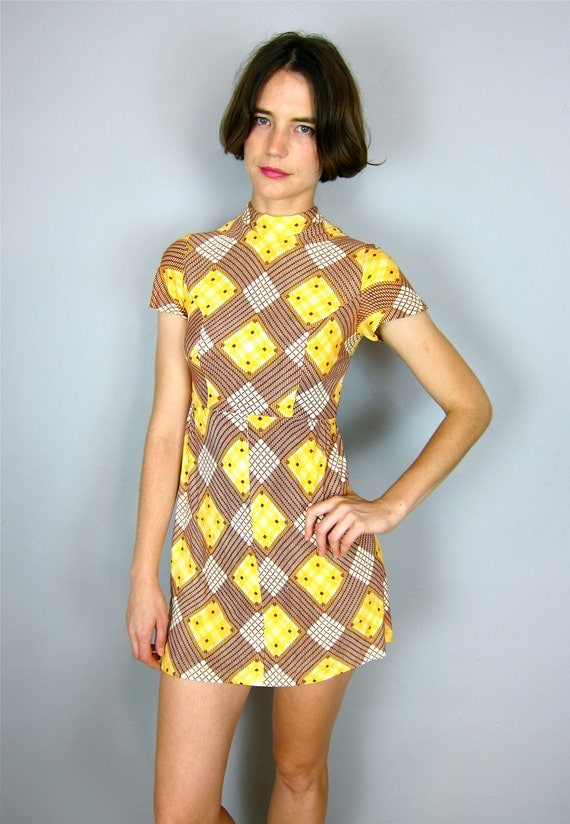 Amazing Patterned 60's Dress