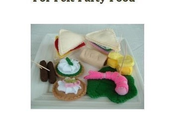 Fun Felt Food Pattern - Party Time - PDF Format