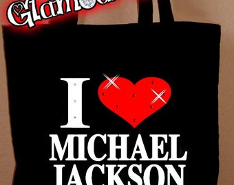 Michael Jackson Rhinestone Crystal Tote Purse Book Bag Glamour Glamour Rocks