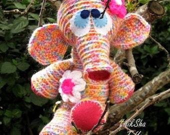 Crochet toy Amigurumi Pattern - Flower Elephant.
