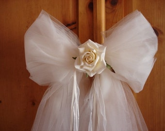 Set of 2 Wedding Pew Bows (total of 10 are available)