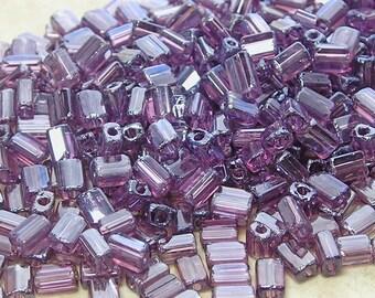5x3mm Transparent Light Amethyst Luster Czech Glass Baby Pillow Beads 10 Grams (CS165)