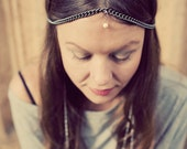 Silver Chain Headdress with Pearl - The Empress