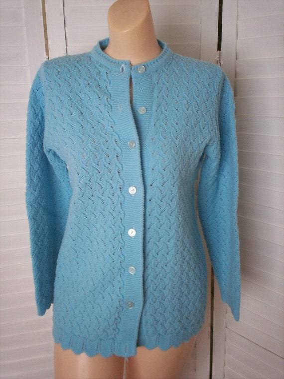 Cardigan Sweater, Light Blue  - Size M
