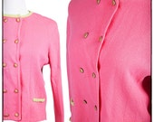 Vintage 1960's Bubblegum Pink Sweater/Cardigan by Bamberger's, vestiesteam