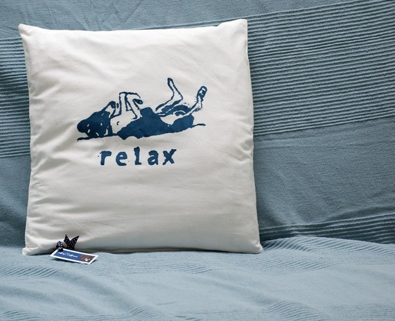 Relaxing greyhound cushion cover - HALF PRICE