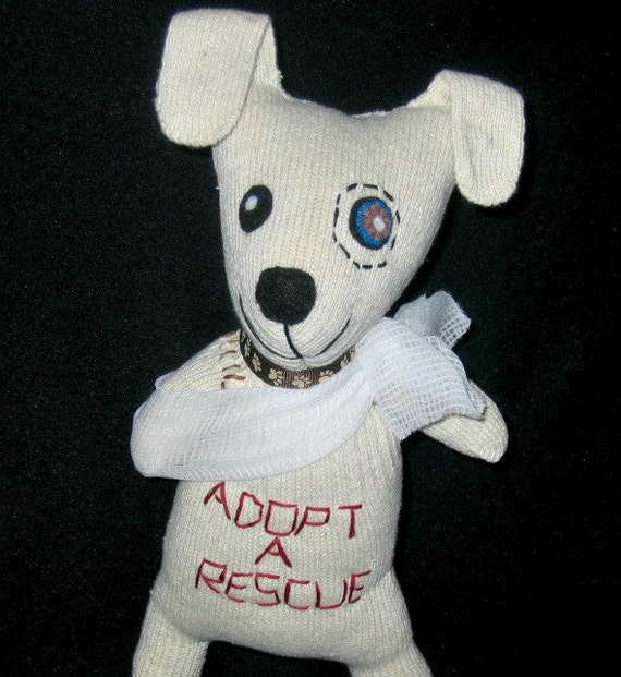 Adopt a Rescue dog - stuffed plush toy animal