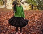 Frankenstein Girl and Doll Photography Print, Little Monsters, 5x5 Fine Art Print