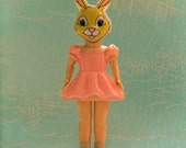 Rabbit Doll Photography Print - Pretty in Pink - Vintage Hard Plastic Doll in Rabbit Mask