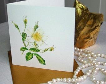 Card 'Rambling Rose, Wedding Day'.