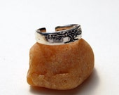 Tree of Life Toe or Knuckle Ring in Sterling adjustable toe ring foot jewelry