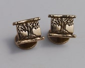 Tree Cuff-links brass Tree of Life groomsmen gift wedding parts gift sets man's cuff links cufflinks
