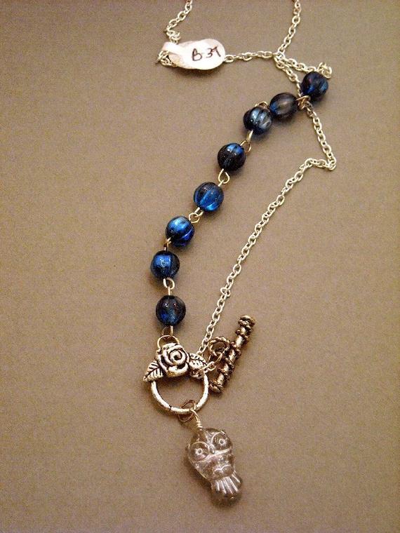 Owl  Lariat necklace
