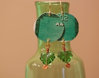Recycled Credit Card Earrings Amex