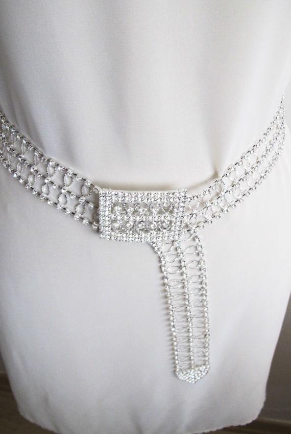 Beaded Bridal Wedding Sash Belt with Rhinestones crystal beads