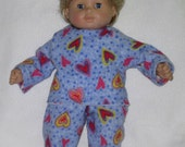 Bitty Baby American Girl Doll Clothes  Lots of Hearts Perfect for Boy or Girl doll