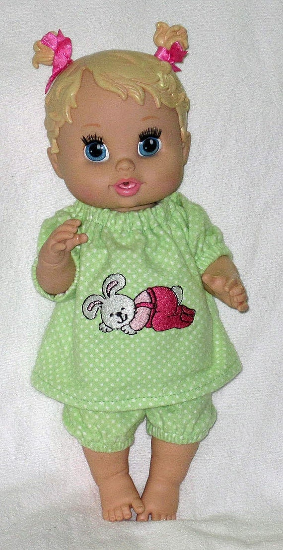 Baby Alive Corolle Tidoo Doll Clothes Adorable Sleeping Bunny Pajamas 12 13  Inch Baby  Doll   Doll Clothes Handmade