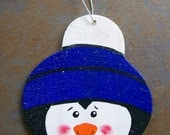 Wooden Penguin Ornament - Personalized Christmas Tree Decoration, College Decor, School Spirit, Party Favor