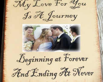 My love for you is a journey... primitive picture frame