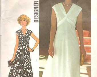 1970s Vintage Sewing Patterns-1970 Dress Pattern - 1970s Maxi Dress Pattern - 70s Designer Dress Pattern Simplicity 7538 - Retro Patterns