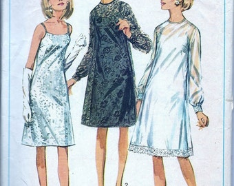 1960s Vintage Sewing  Pattern -  1960s Dress Pattern - Madmen Dress Pattern  - A Line Dress - 60s Cocktail Dress Pattern - Simplicity 6784