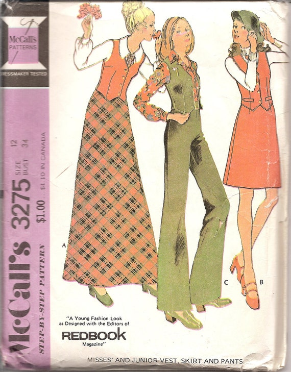 vintage sewing patterns 1970s maxi skirt pattern 70s high
