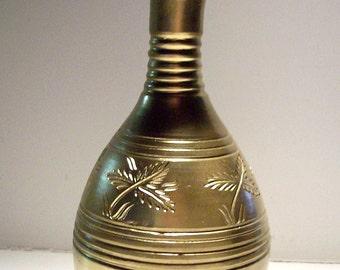 Vintage Gold Pottery Floral Vase