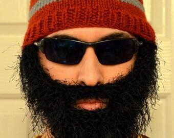 Bearded Beanie, Bearded Hat, Bearded Cap, Beard Beanie, Knitted Beard Hat, Adult Size, All Colors
