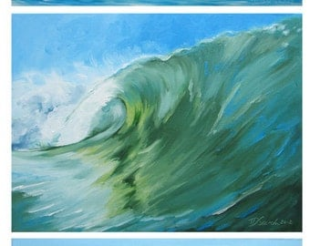 "GICLEE reproduction on 8 1/2 x 11"" fine art Paper - Curling Wave series of Five"
