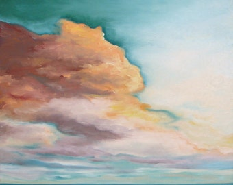 GICLEE Fine Art Reproduction on 8.5x11 PAPER - Sunkissed Dawn by Daina Scarola (seascape, sunset, surf art, ocean art, clouds)