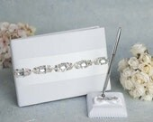 Glam Wedding Guestbook and Pen Set - 200206/250206