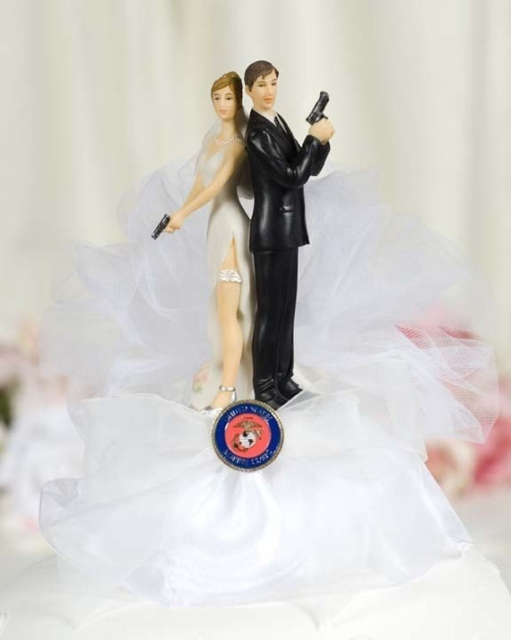 Military Super Sexy Cake Topper- Air Force - Navy - Army - Marines - Custom Painted Hair Color Available - 109007