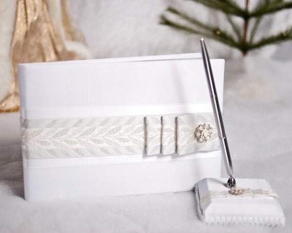 Winter Woodland Wedding Guest Book and Pen Set - 200106/250106