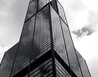 Chicago, Sears Tower: Black and White Photo