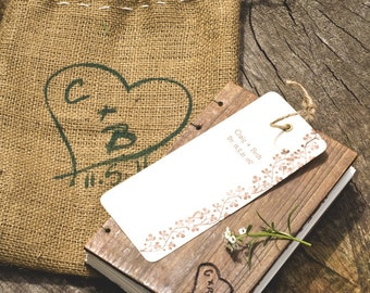 Personalized Engraving Wooden Coptic Guestbook