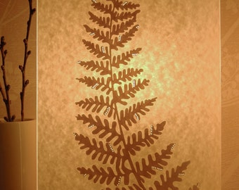 Tall Oval Fern  Table Lamp