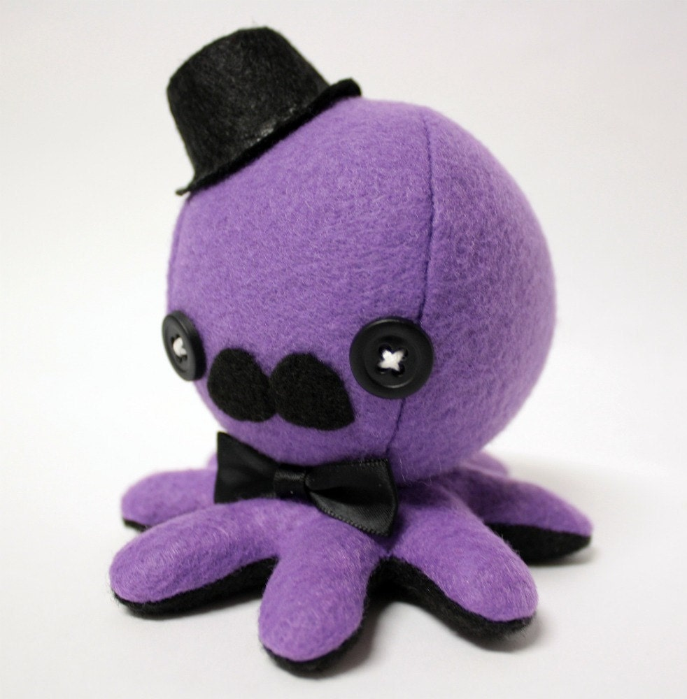 Octopus Pattern Plush Purple Gentleman Octopus Plush