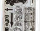 Tim Holtz Visual Artistry Clear Stamp set -- The Journey (free shipping)