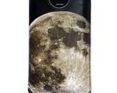Leather iPhone 4 case / iPhone 4S Case - Lunar landscape design