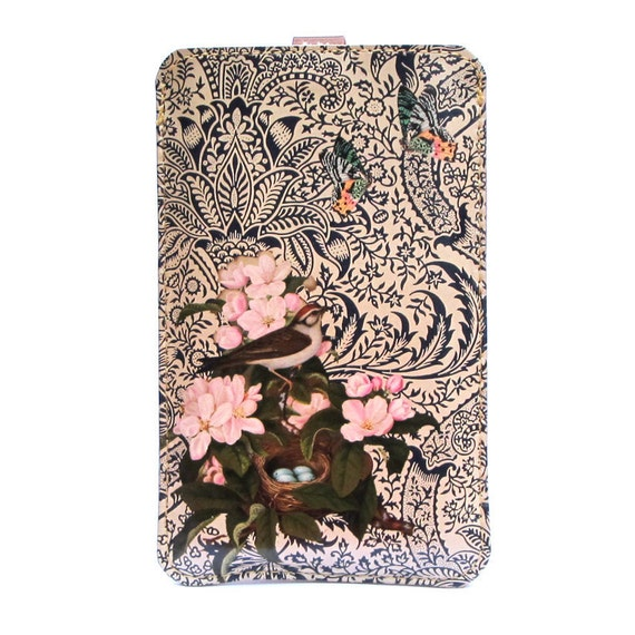 Leather Phone case  - Spring illustrated design