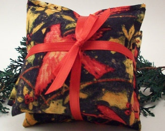 Balsam Fir Sachets - Cardinals - Gifts for Bird Lover - Gifts for Mom - Holiday Decor - Christmas Scents